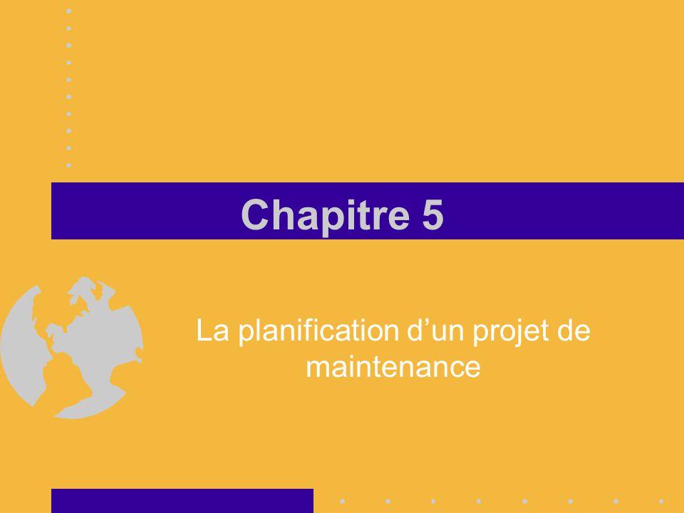 La planification d'un projet de maintenance