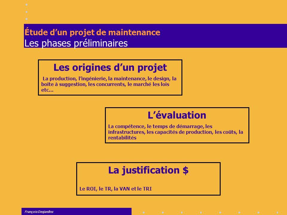 Étude d'un projet de maintenance Les phases préliminaires