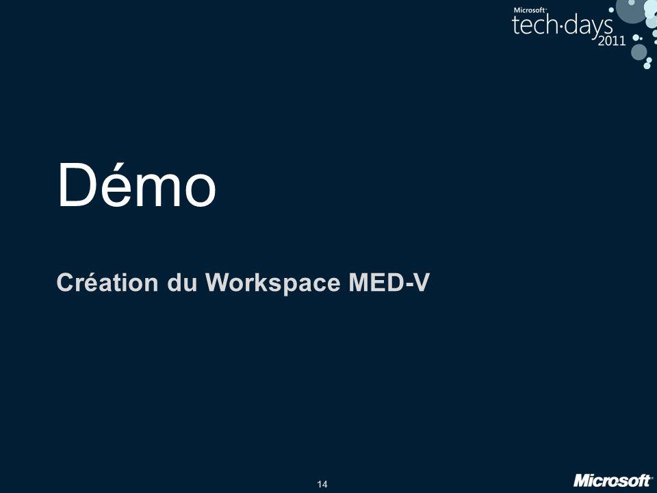 Création du Workspace MED-V