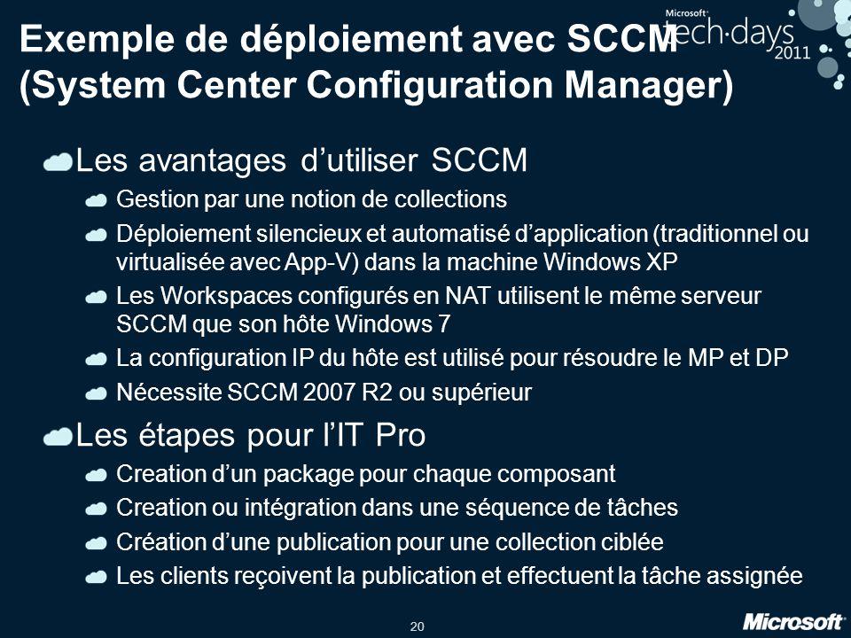 Exemple de déploiement avec SCCM (System Center Configuration Manager)