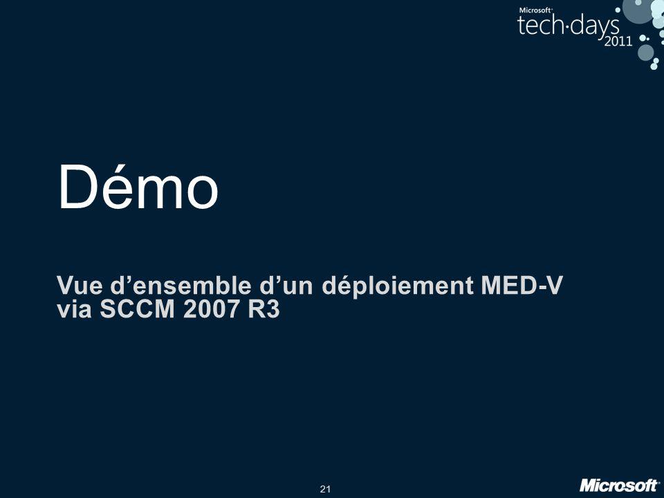 Vue d'ensemble d'un déploiement MED-V via SCCM 2007 R3