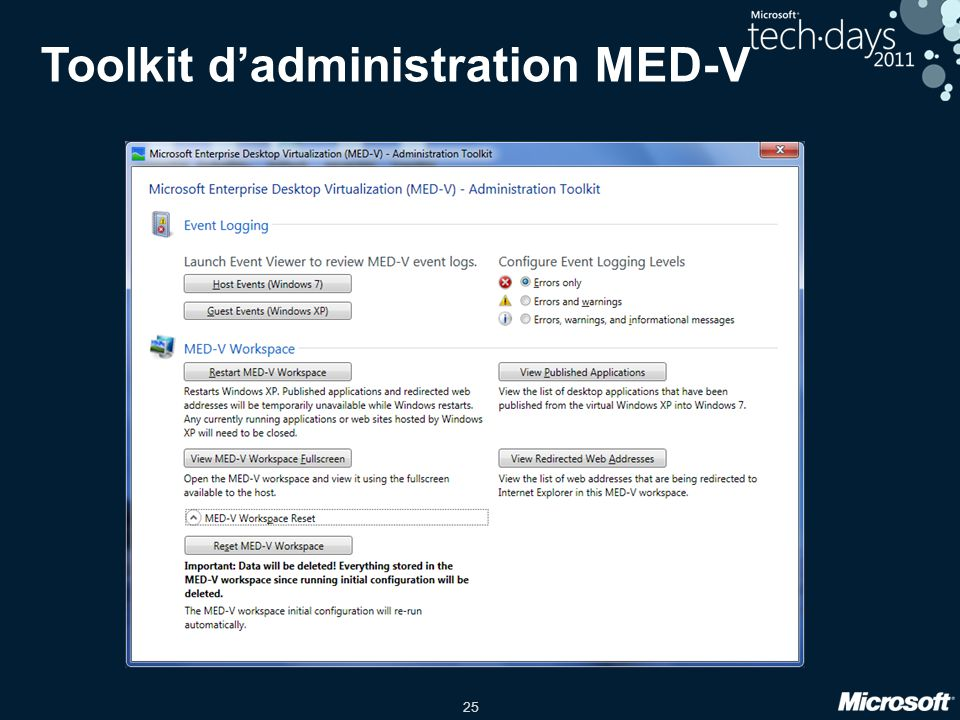 Toolkit d'administration MED-V