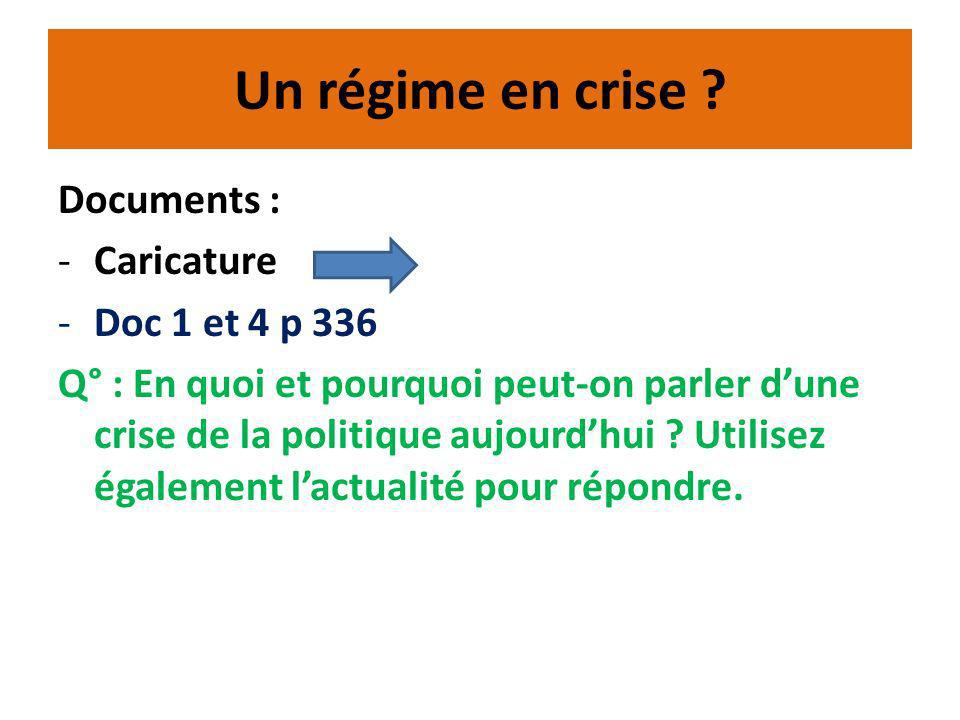 Un régime en crise Documents : Caricature Doc 1 et 4 p 336