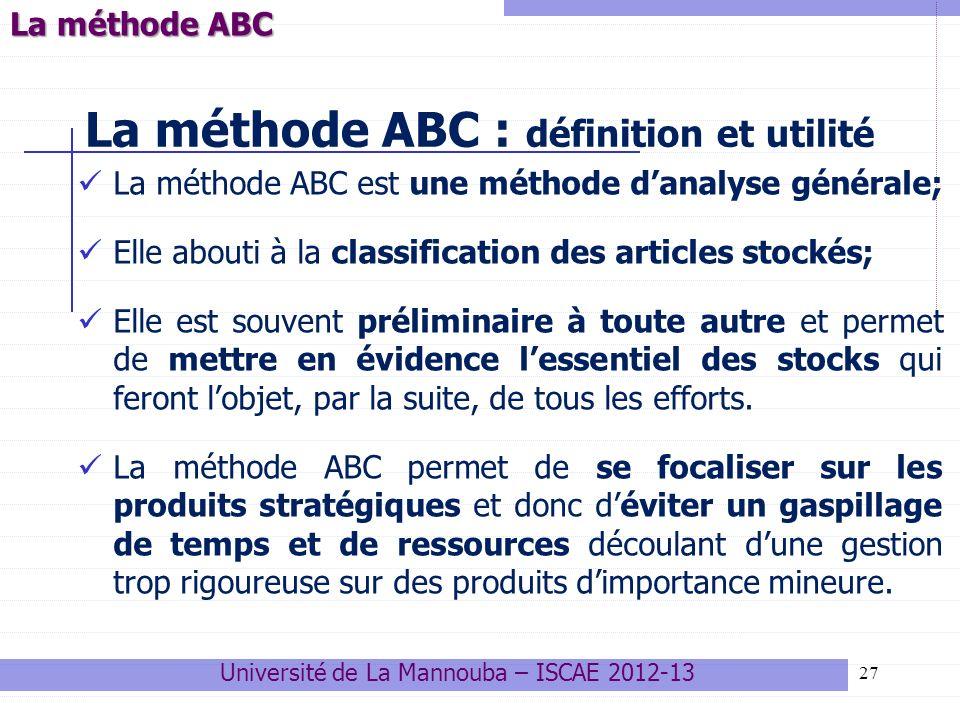 La méthode ABC : définition et utilité