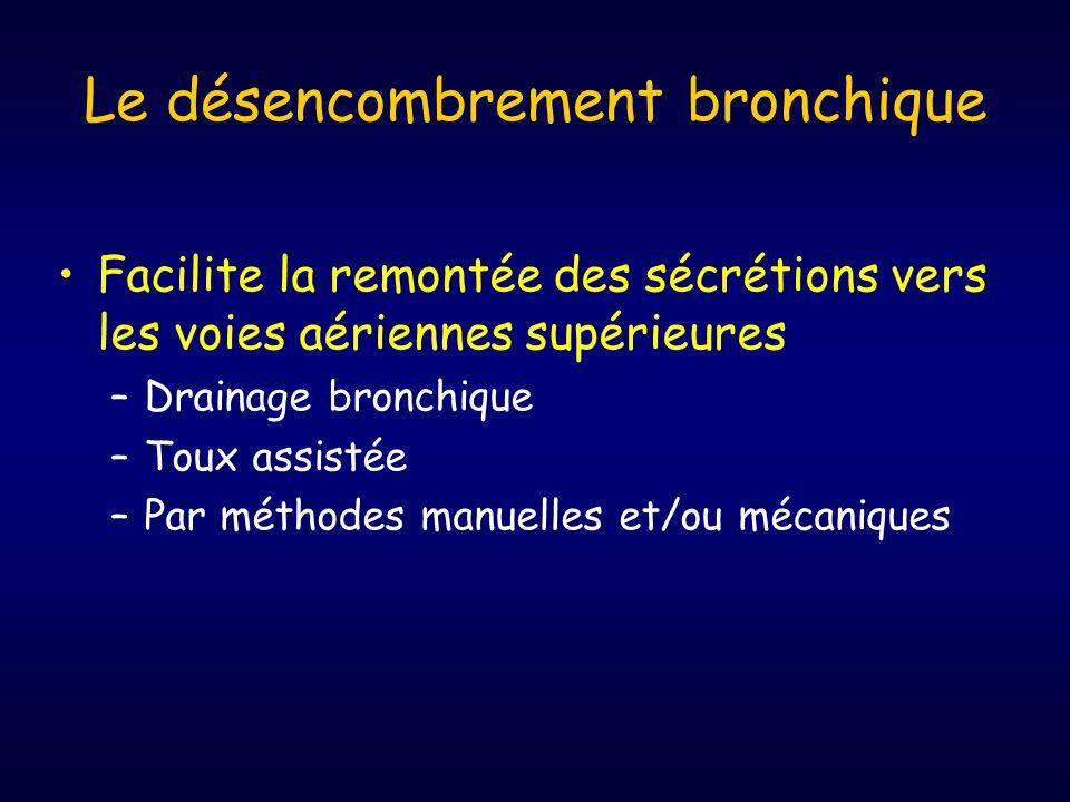 Le désencombrement bronchique