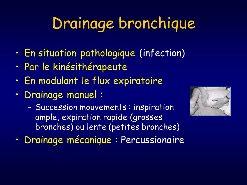 Drainage bronchique En situation pathologique (infection)