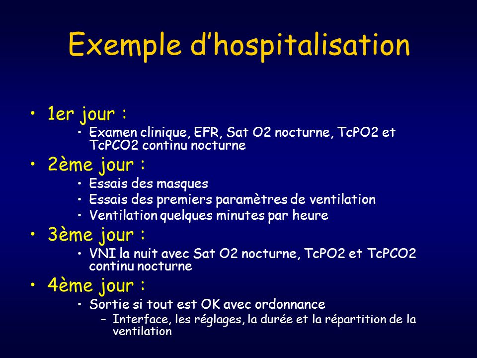 Exemple d'hospitalisation