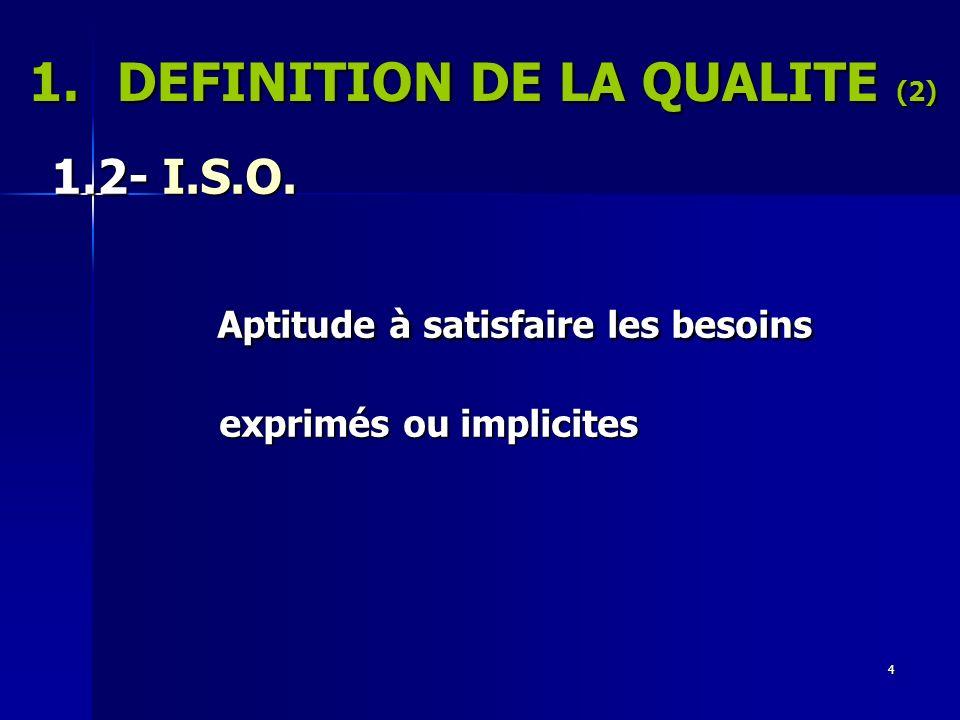 DEFINITION DE LA QUALITE (2)