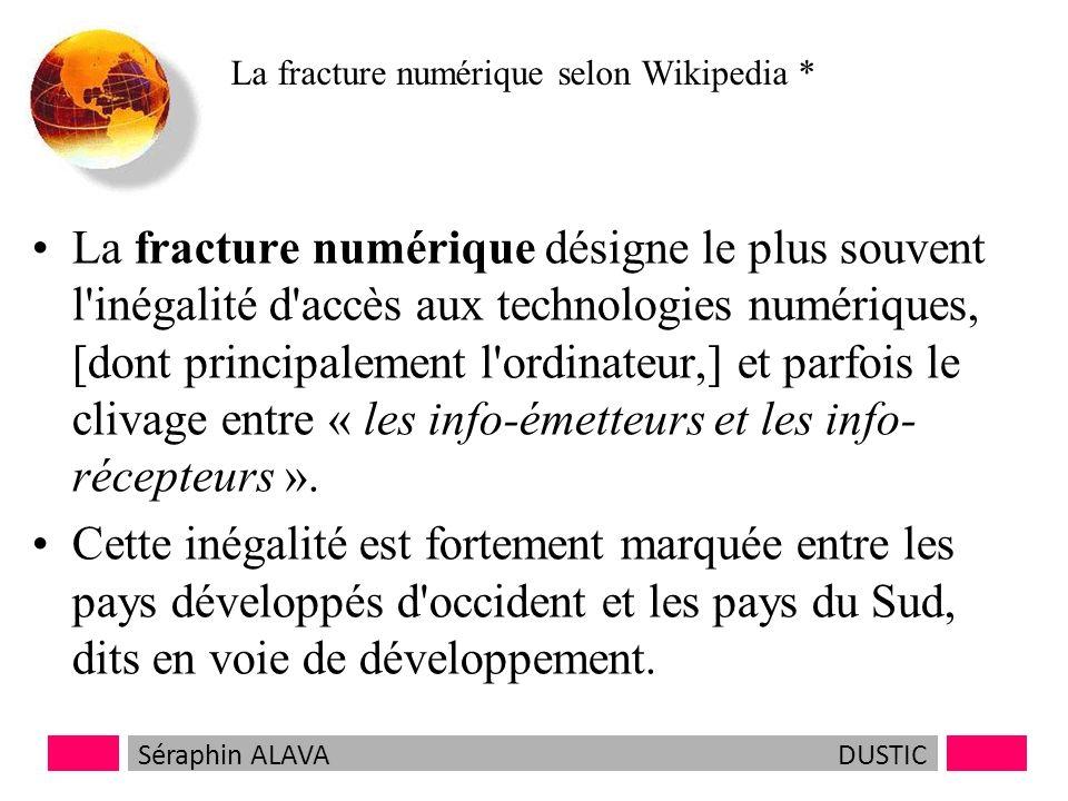 La fracture numérique selon Wikipedia *
