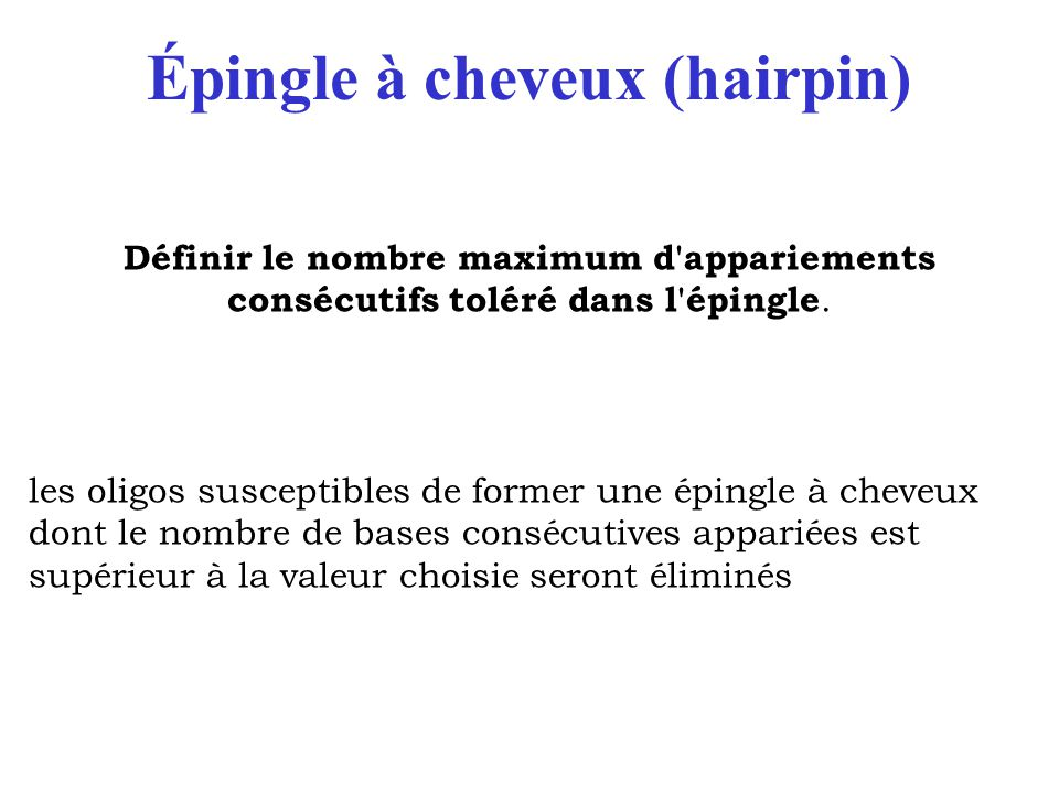 Épingle à cheveux (hairpin)