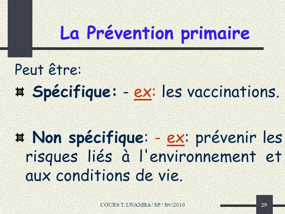 La Prévention primaire