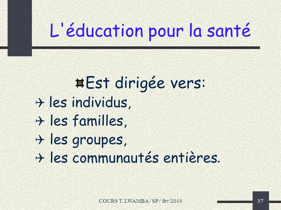 L éducation pour la santé