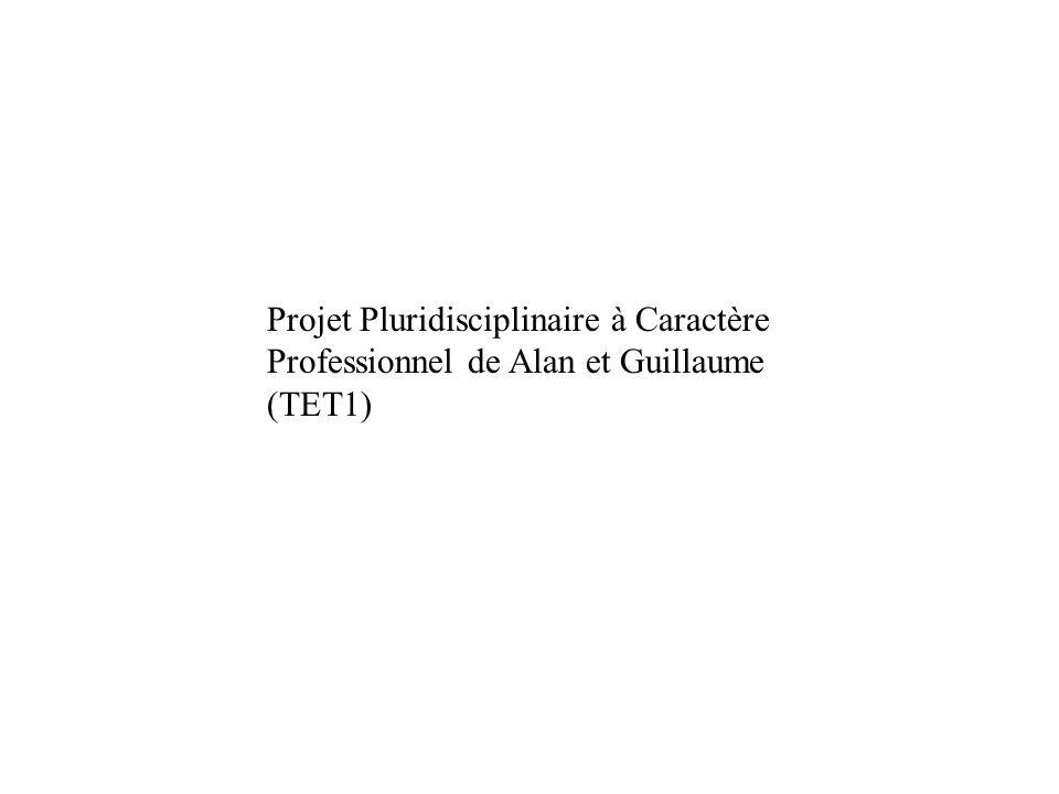 Projet Pluridisciplinaire à Caractère Professionnel de Alan et Guillaume (TET1)