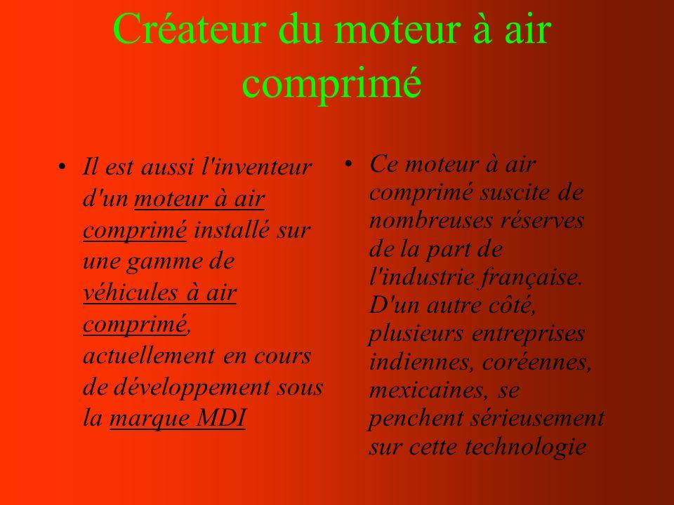 Créateur du moteur à air comprimé