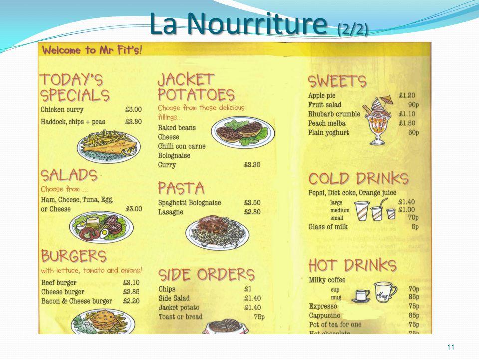 La Nourriture (2/2)