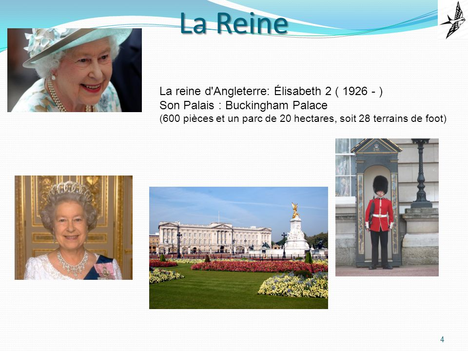 La Reine La reine d Angleterre: Élisabeth 2 ( 1926 - )
