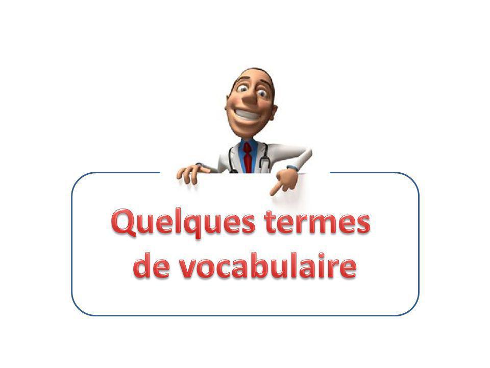 Quelques termes de vocabulaire