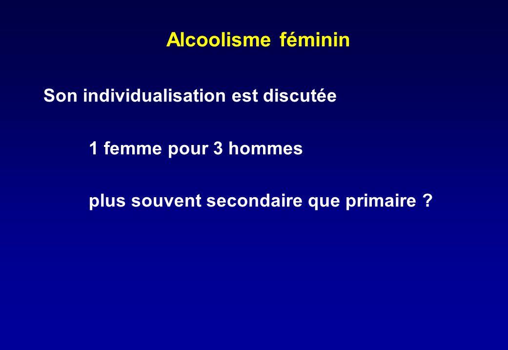 Alcoolisme féminin Son individualisation est discutée