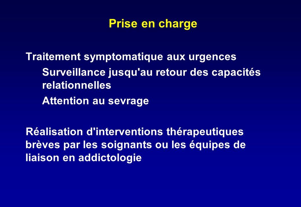 Prise en charge Traitement symptomatique aux urgences