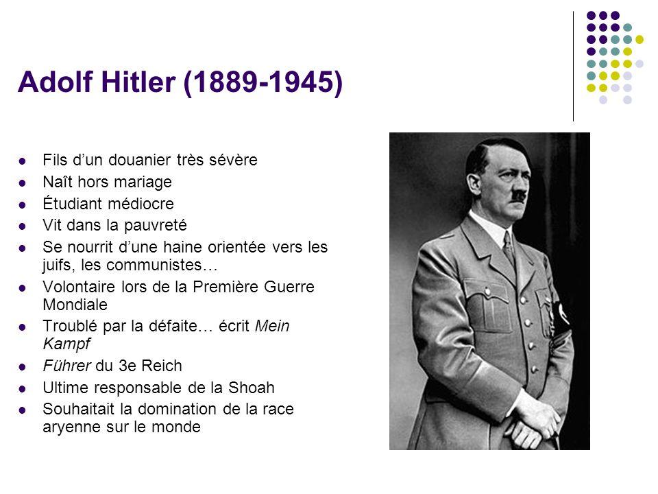 Adolf Hitler (1889-1945) Fils d'un douanier très sévère