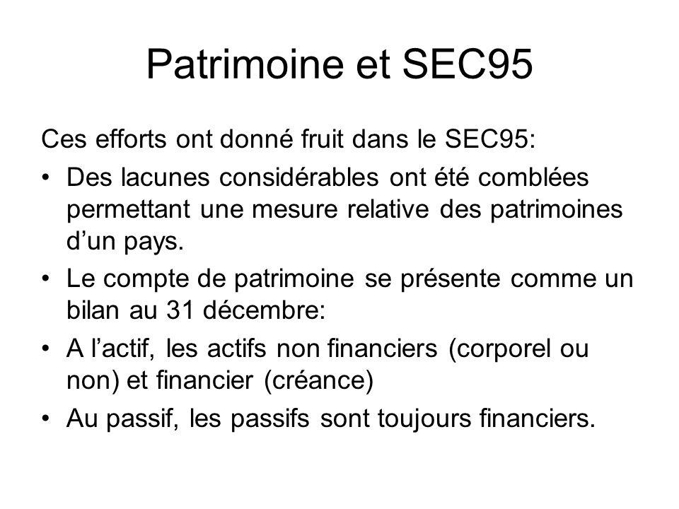 Patrimoine et SEC95 Ces efforts ont donné fruit dans le SEC95: