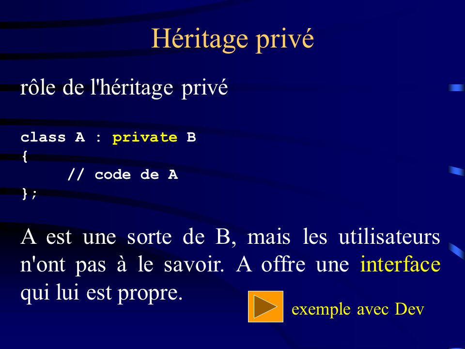 Héritage privé rôle de l héritage privé