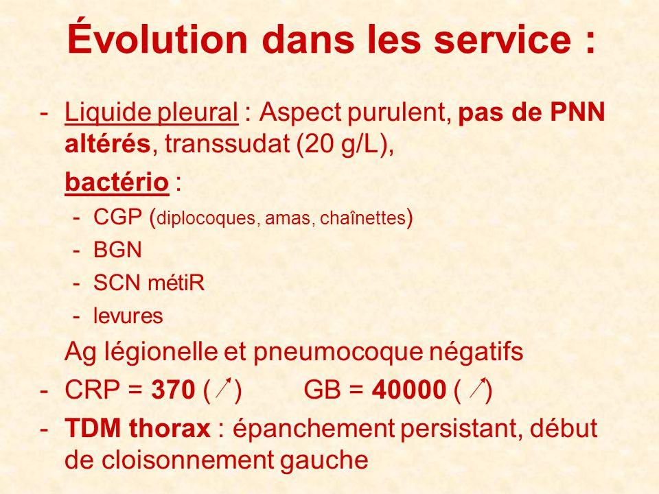 Évolution dans les service :