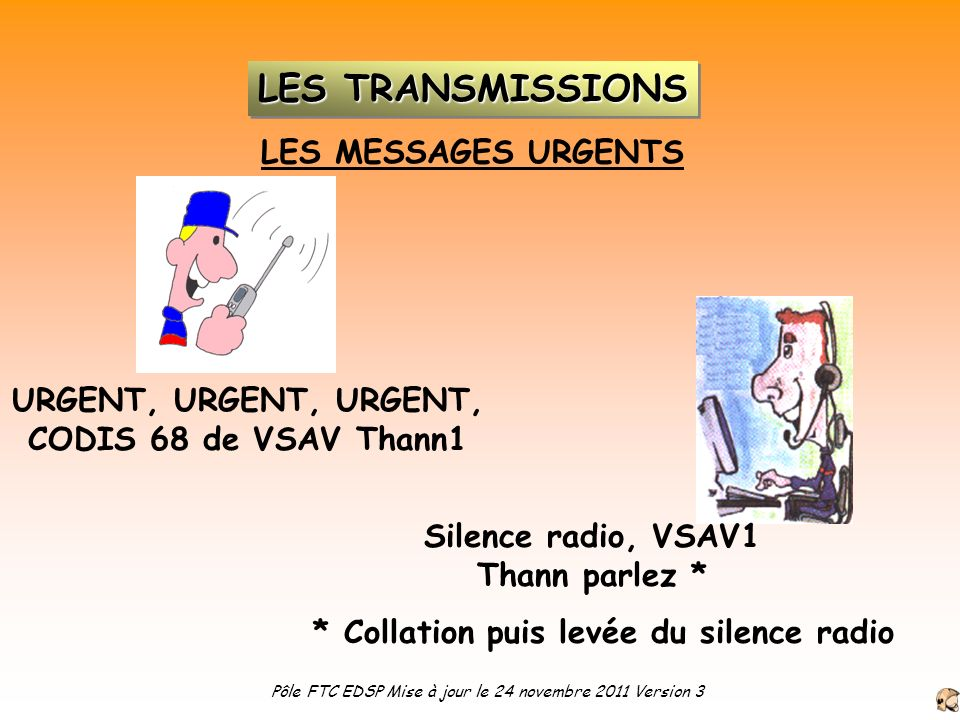 Silence radio, VSAV1 Thann parlez *