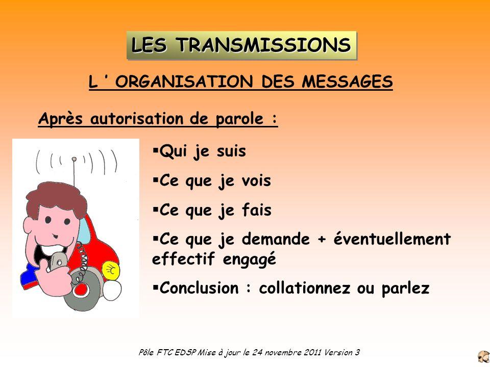 L ' ORGANISATION DES MESSAGES