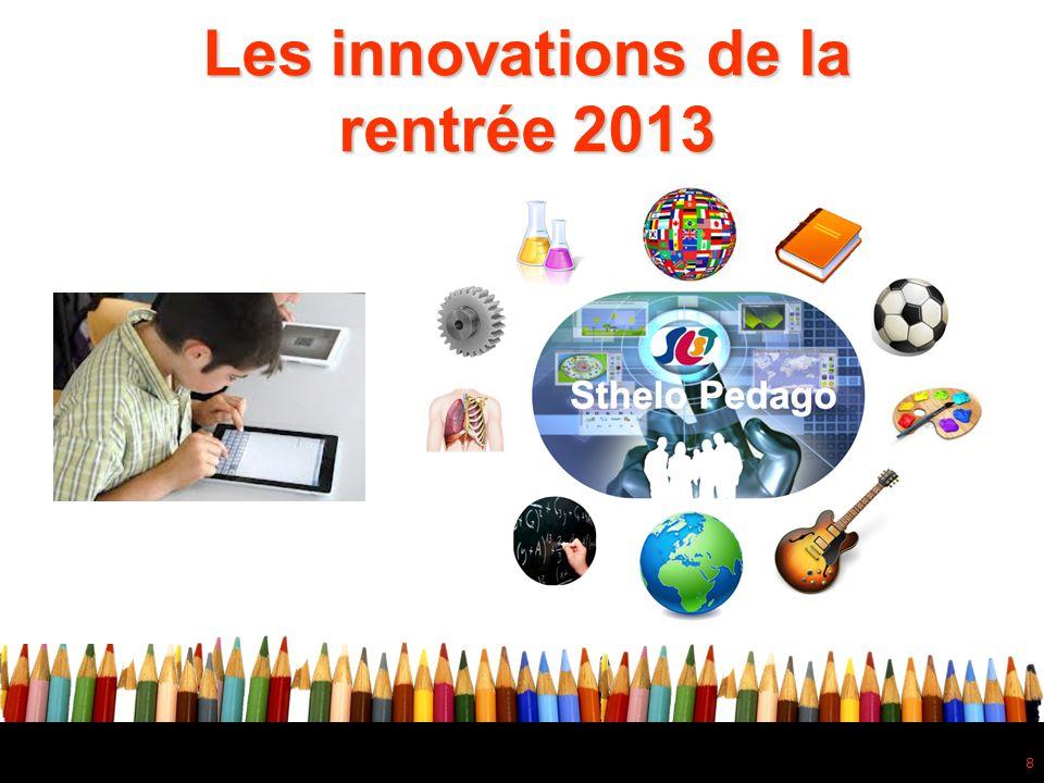 Les innovations de la rentrée 2013