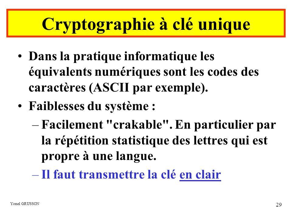 Cryptographie à clé unique