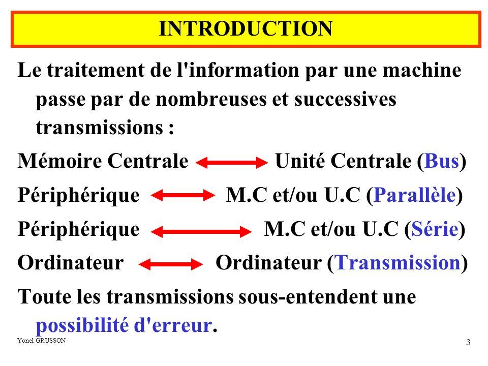 Mémoire Centrale Unité Centrale (Bus)
