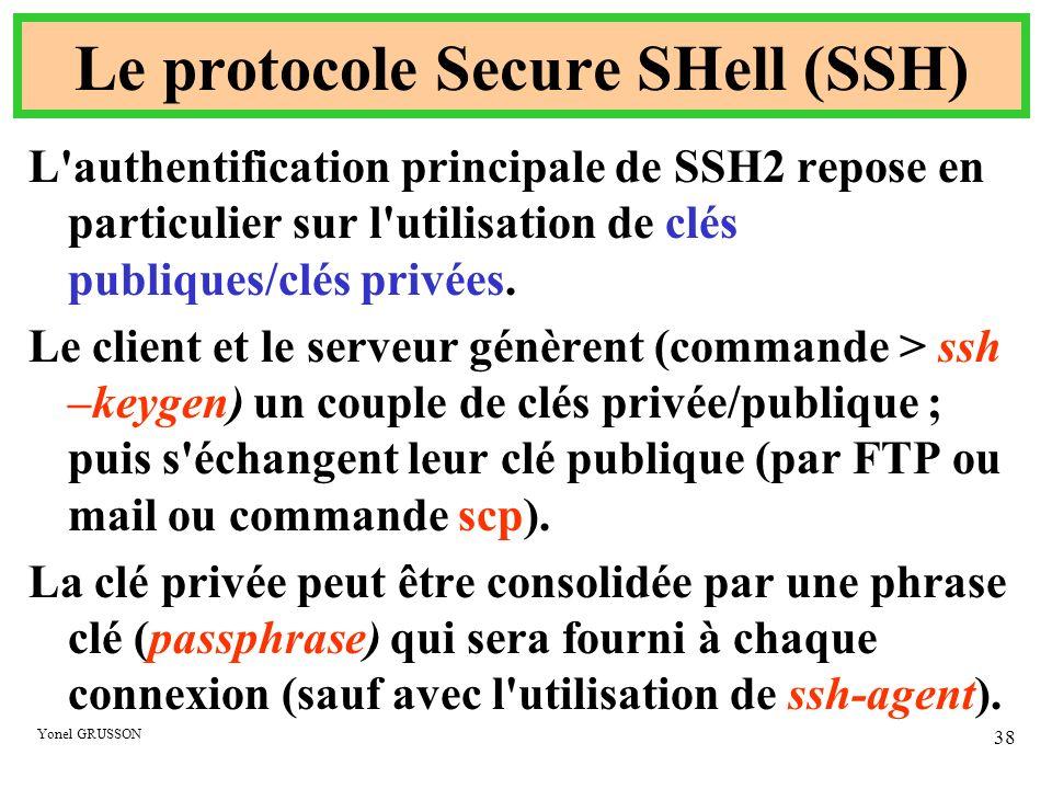 Le protocole Secure SHell (SSH)