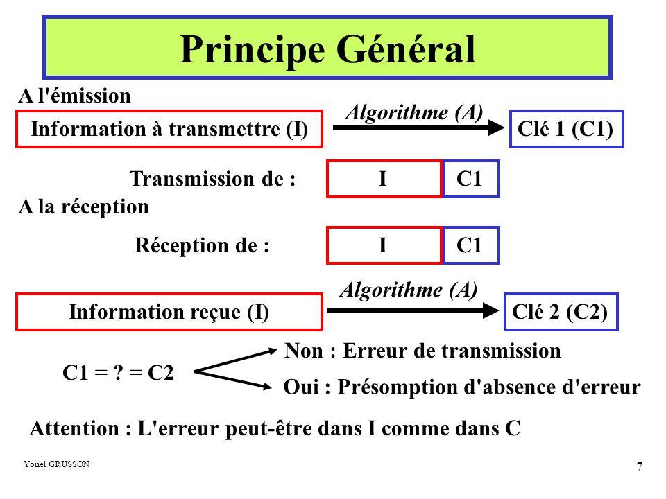 Information à transmettre (I)