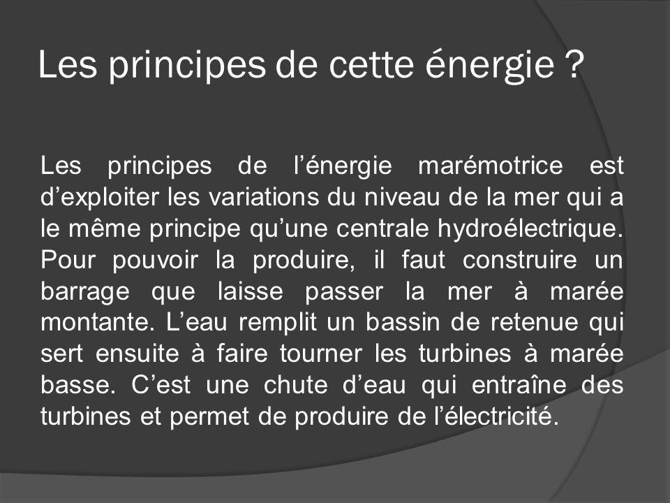 Les principes de cette énergie