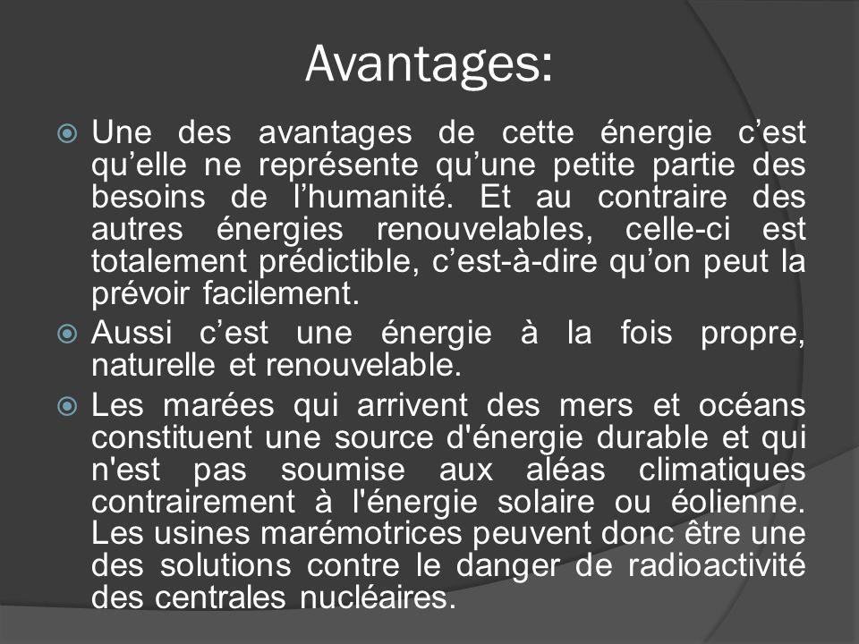 Avantages:
