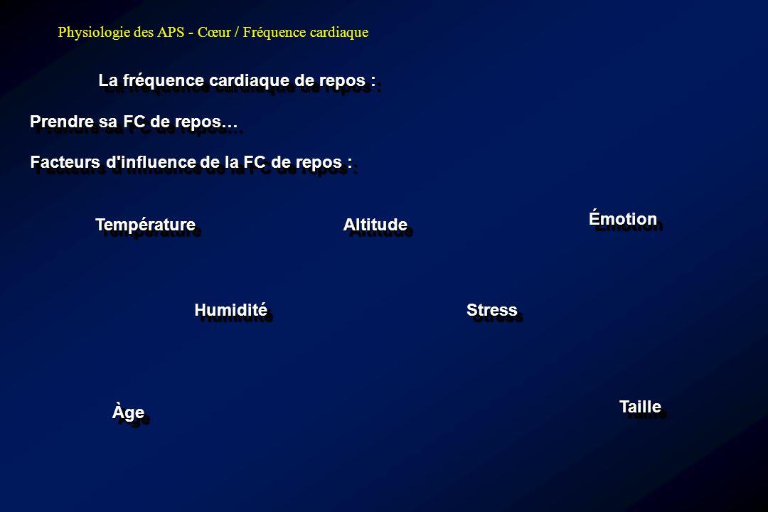 Émotion Température Altitude Humidité Stress Taille Àge