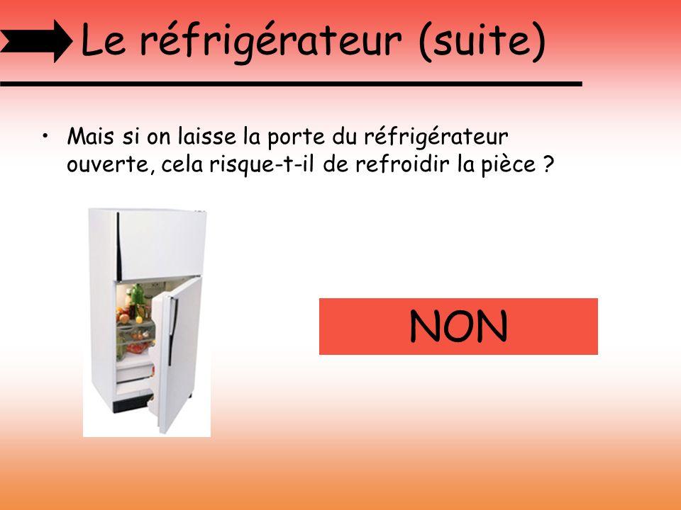 Le réfrigérateur (suite)