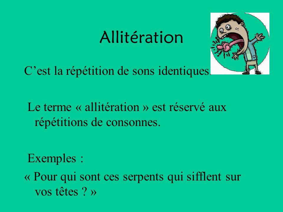 Allitération