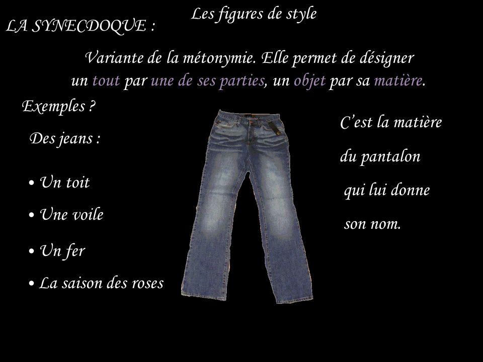 Les figures de style LA SYNECDOQUE :