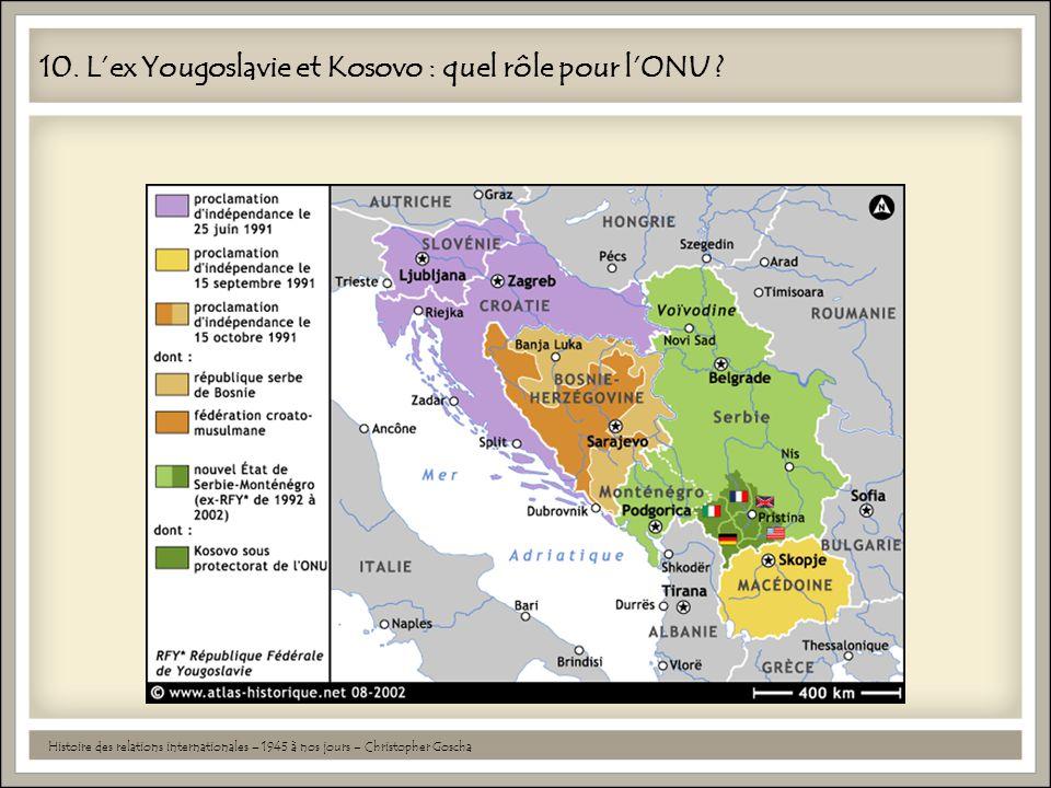 10. L'ex Yougoslavie et Kosovo : quel rôle pour l'ONU