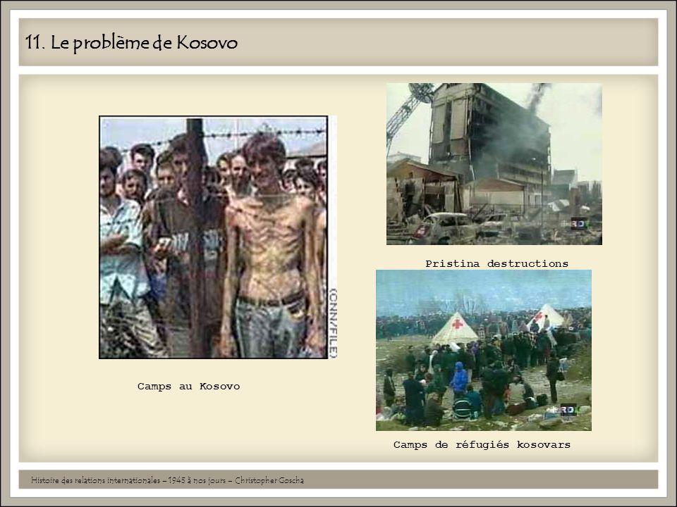 11. Le problème de Kosovo Pristina destructions Camps au Kosovo
