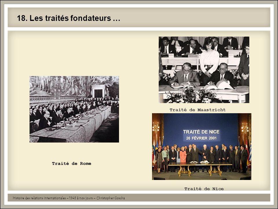18. Les traités fondateurs …