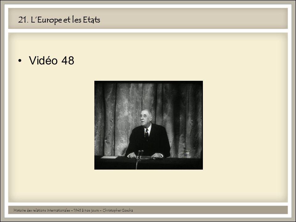 Vidéo 48 21. L'Europe et les Etats