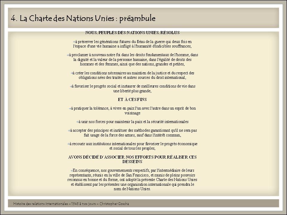 4. La Charte des Nations Unies : préambule