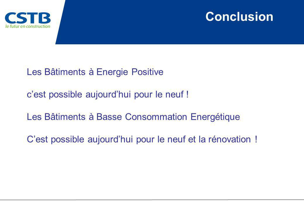 Conclusion Les Bâtiments à Energie Positive