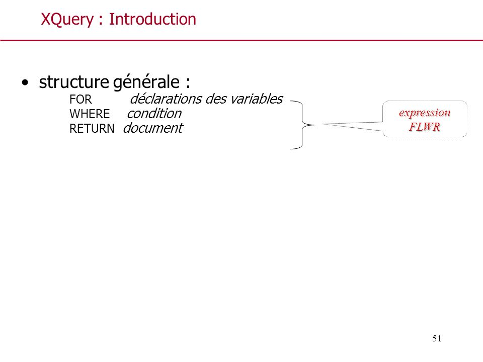 structure générale : XQuery : Introduction