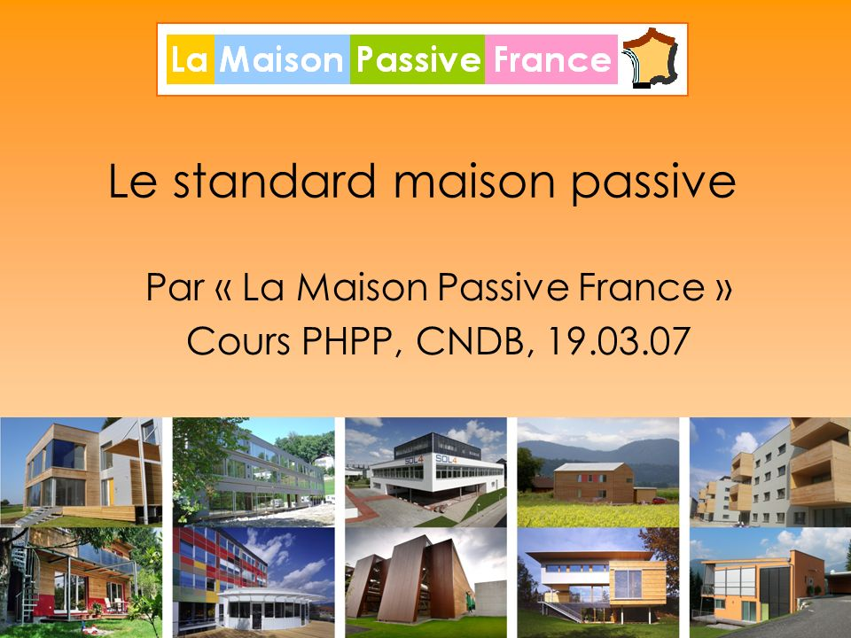 Le standard maison passive