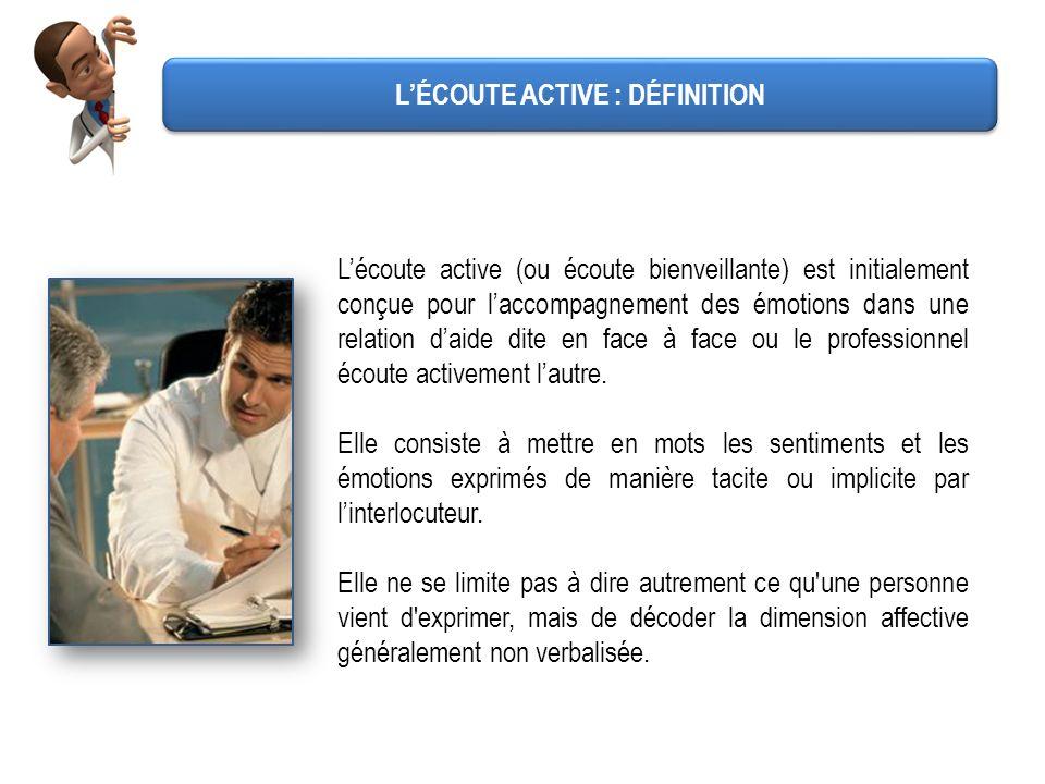 L'ÉCOUTE ACTIVE : DÉFINITION