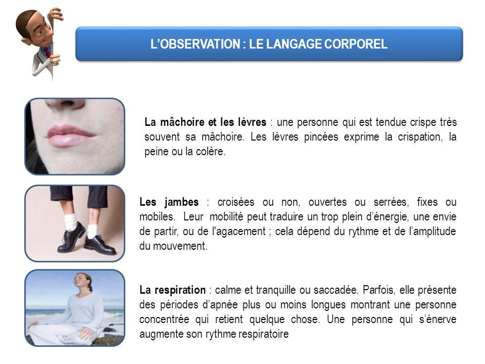 L'OBSERVATION : LE LANGAGE CORPOREL